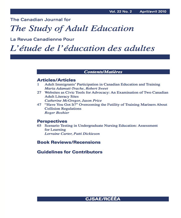 National Institute of Adult Continuing Education (NIACE), Leicester, UK,  2007, 188 pages.